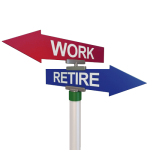 Work Retire Sign