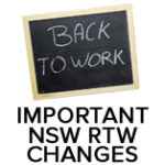 NSW RTW Changes